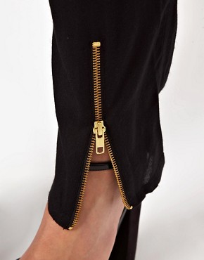 Image 3 ofASOS Peg Trousers with Zip Front Detail