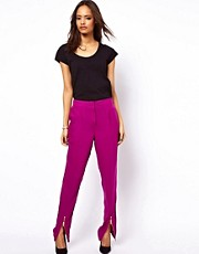 ASOS Peg Trousers with Zip Front Detail