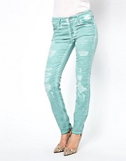 7 For All Mankind Destroyed Kristen Skinny Jeans