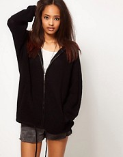ASOS Zip Hoodie Cardigan