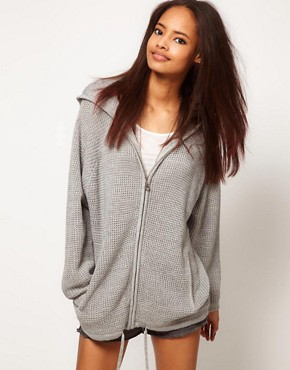 Image 1 ofASOS Zip Hoodie Cardigan