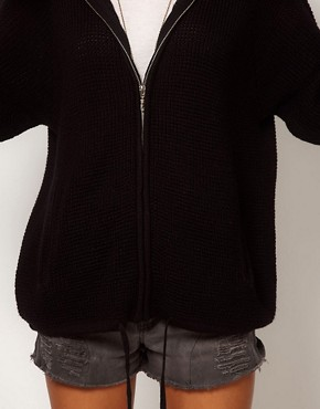 Image 3 ofASOS Zip Hoodie Cardigan