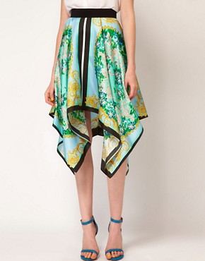Image 4 ofMSGM Asymmetric Skirt With Scarf Print