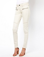 Selected Bean Jeans with Zip Detail