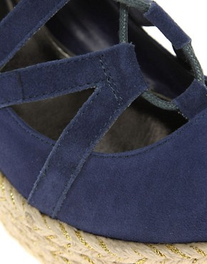 Image 2 ofRavel Lace Up Espadrille Wedge Shoe
