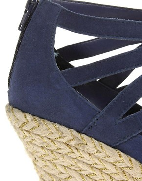 Image 3 ofRavel Lace Up Espadrille Wedge Shoe