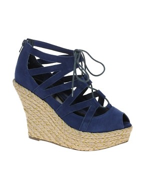 Image 1 ofRavel Lace Up Espadrille Wedge Shoe