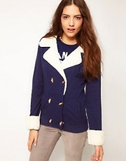 Chaqueta polar con cuello de Franklin & Marshall