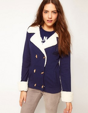 Image 1 ofFranklin &amp; Marshall Fleece Collar Jacket