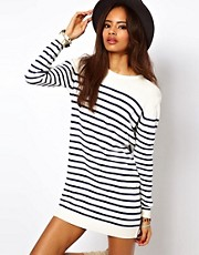 ASOS Striped Knit Sweater Dress