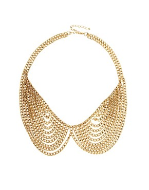 Image 1 ofASOS Multi Chain Rounded Collar Necklace
