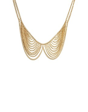 Image 2 ofASOS Multi Chain Rounded Collar Necklace