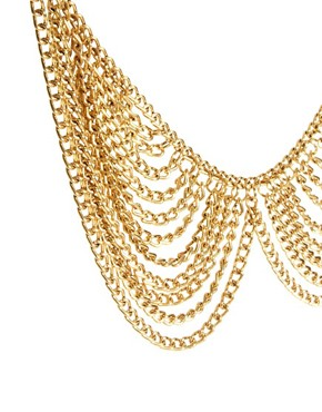 Image 4 ofASOS Multi Chain Rounded Collar Necklace