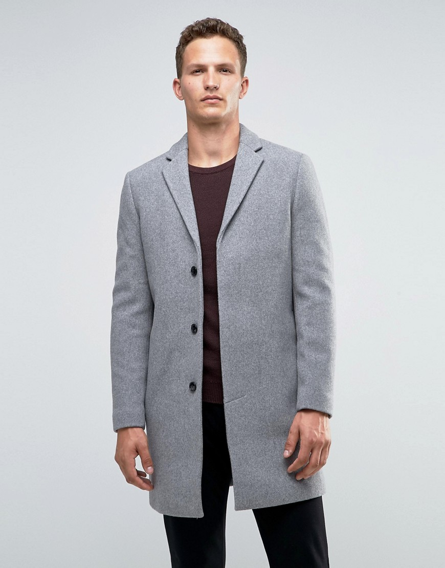 Gray Selected homme wool coat for men - REF:3866202 | Cheap ...