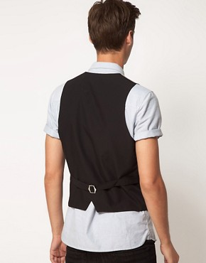 Image 2 ofASOS Slim Fit Waistcoat In Tweed