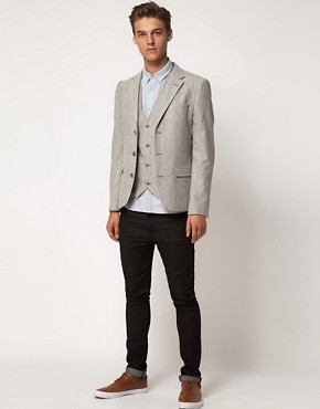 Image 4 ofASOS Slim Fit Waistcoat In Tweed
