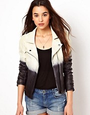 Selected Dip Dye Leather Jacket