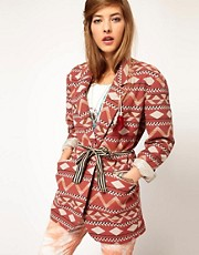 Maison Scotch Tribal Blazer with Roll Up Sleeves