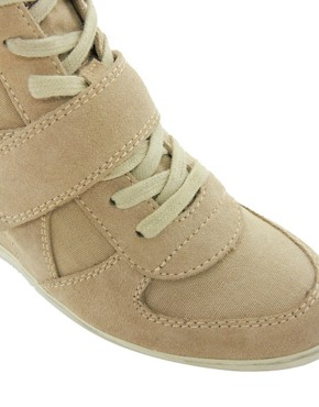 Image 3 ofAsh Bowie Taupe Wedge Trainers