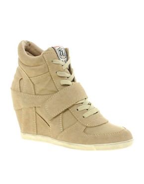 Image 1 ofAsh Bowie Taupe Wedge Trainers