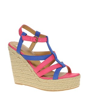 Image 1 ofASOS HARLOW Espadrille Wedges with Multi Straps