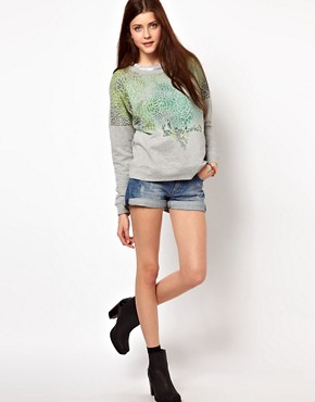Image 4 ofVero Moda Ombre Leopard Sweat Top