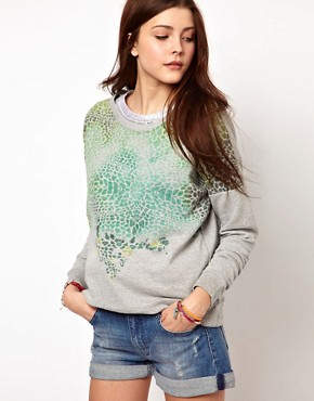 Image 1 ofVero Moda Ombre Leopard Sweat Top