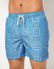 Oiler & Boiler Patchwork Gingham Limited Edition Swim Shorts