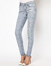 J Brand Paisley Print Skinny Jeans