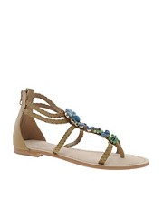 Carvela Kristie Blue Jewelled Sandals