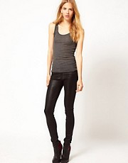 Citizens of Humanity Rocket High Rise Skinny Jeans in Coated Leatherette Denim