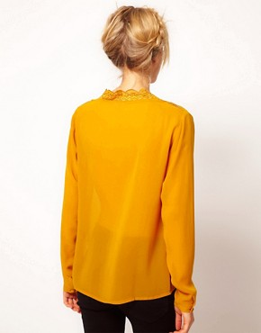 Image 2 ofASOS Blouse With Embroidery And Cutwork
