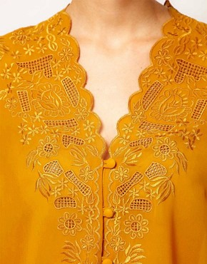 Image 3 ofASOS Blouse With Embroidery And Cutwork