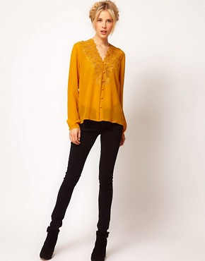 Image 4 ofASOS Blouse With Embroidery And Cutwork
