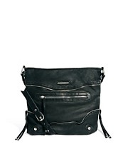 River Island - Borsa messenger con zip