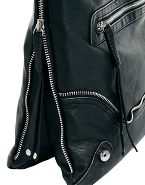 Image 2 ofRiver Island Zip Messenger Bag