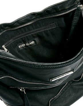 Image 4 ofRiver Island Zip Messenger Bag