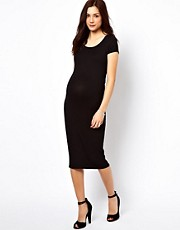 New Look Maternity Cap Sleeve Midi Body-Conscious Dress