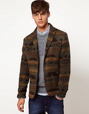 ASOS Slim Fit Aztec Blazer in Italian Fabric