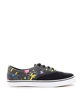 Image 4 ofASOS Plimsolls With Paint Splatter Print