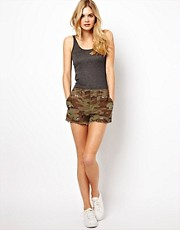 Denim &amp; Supply By Ralph Lauren Camo Shorts With Embroidered Dogs