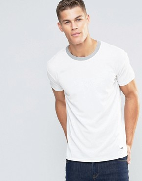 Boss Orange Tanzy Pique T-Shirt Relaxed Fit Contrast Collar