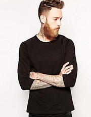 ASOS 3/4 Sleeve T-Shirt With Raglan Sleeves