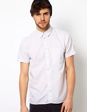 Paul Smith Jeans Shirt with Dobby Dot Pattern in a Tailored Fit
