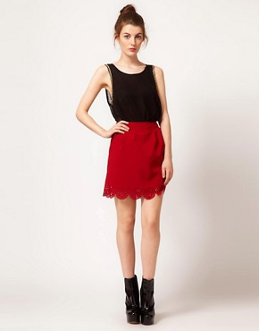 Image 1 of The Style Scallop Edge Skirt