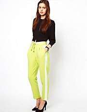 Pantalones con costuras colour block de ASOS