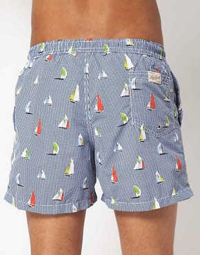 Image 2 ofHartford Sailing Boats Swim Shorts