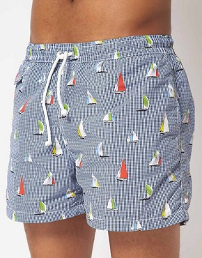 Image 1 ofHartford Sailing Boats Swim Shorts