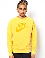 Nike Crew Sweat With Vintage Wash