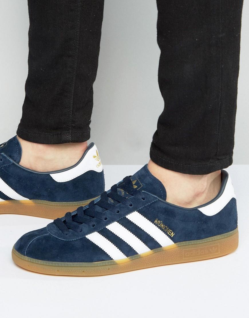 adidas Originals Munchen Sneakers In Navy BB5297 - Navy